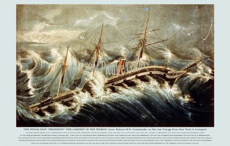 Fine art print of the Steamship - President